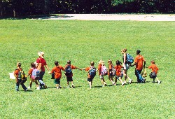 Camp kids playing