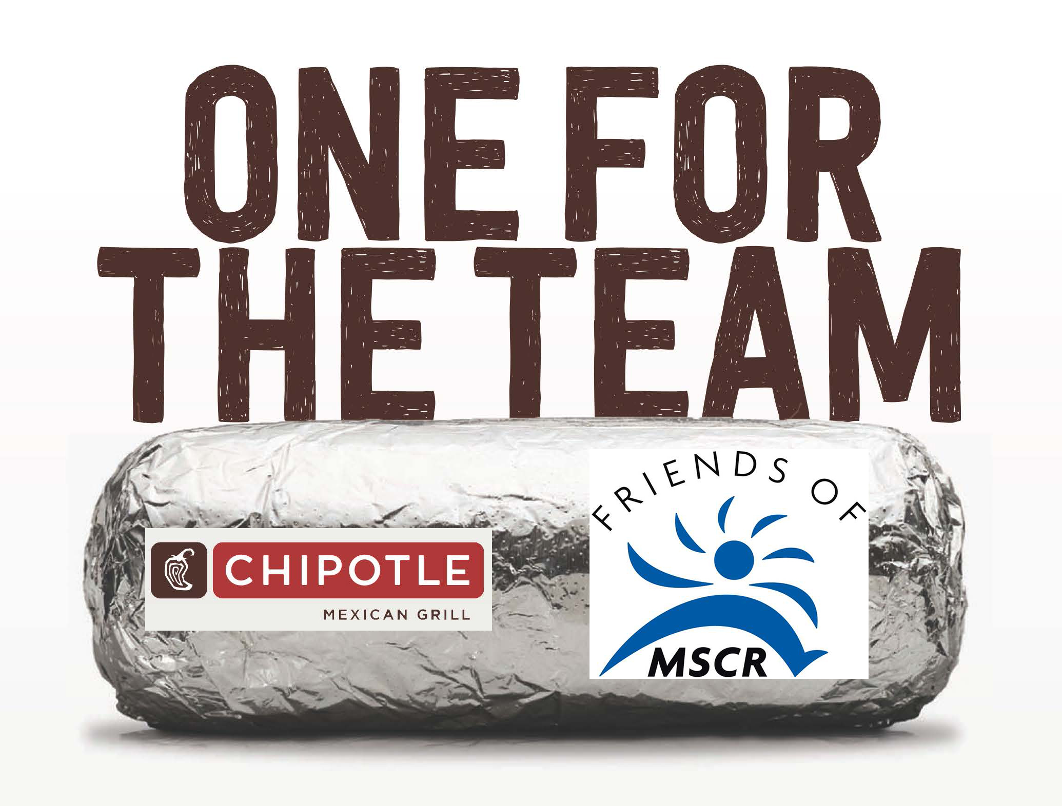 picture of Chipotle logo and Friends of MSCR logo