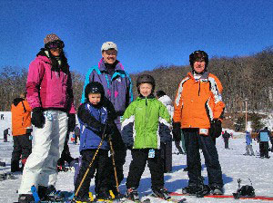 Group about to ski